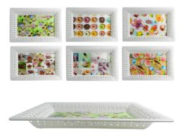 48 Units of Rectangular Printed Tray - Serving Trays
