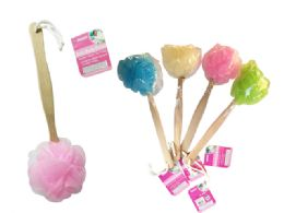 96 Units of Loofah Ball With Handle - Loofahs & Scrubbers