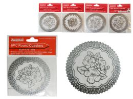 288 Units of 6pc Round Coasters - Coasters & Trivets