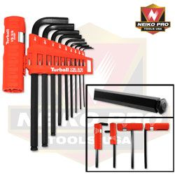 48 Units of 9pc Sae/ball Hex Key Tool, 4 Position Handle - Tool Sets