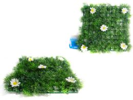 48 Units of Grass Blade Mat With Flowers - Garden Planters and Pots