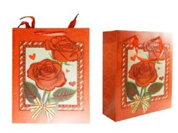 144 Units of SUPER VALUE DECORATIVE VALENTINE GIFT BAG BULK - Gift Bags