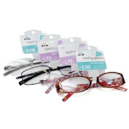 100 Units of Foster Grant Reading Glasses Medium Power Assorted Styles - Reading Glasses