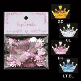 96 Units of Rhinestone Craft Crowns - Scrapbook Supplies