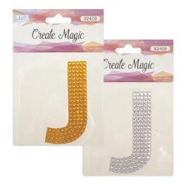 144 Units of Crystal sticker J - Craft Beads