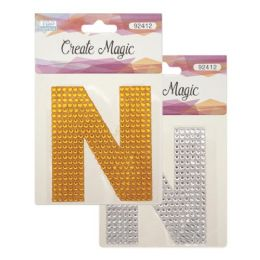 144 Units of Crystal sticker N - Craft Beads