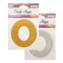 144 Units of Crystal sticker O - Craft Beads