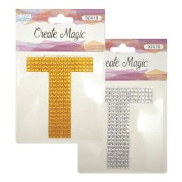 144 Units of Crystal sticker T - Craft Beads