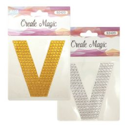 144 Units of Crystal sticker V - Craft Beads