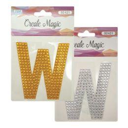 144 Units of Crystal sticker W - Craft Beads