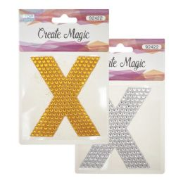 144 Units of Crystal sticker X - Craft Beads