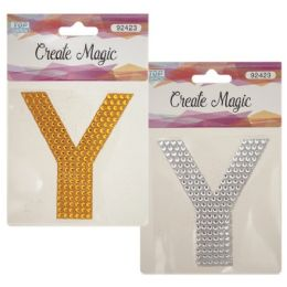 144 Units of Crystal sticker Y - Craft Beads