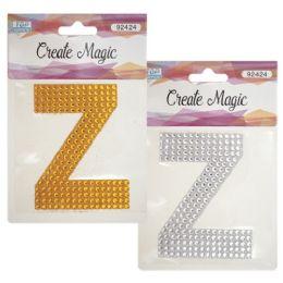 144 Units of Crystal sticker Z - Craft Beads