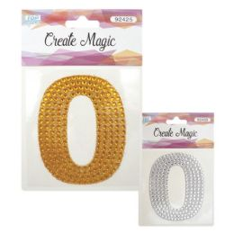 144 Units of Crystal sticker Number Zero - Craft Beads