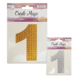 144 Units of Crystal sticker Number One - Craft Beads