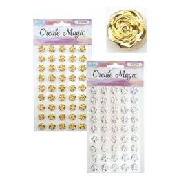 96 Units of Craft Flower Sticker - Stickers