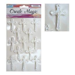 144 Units of Craft Magic Sticker Cross - Stickers
