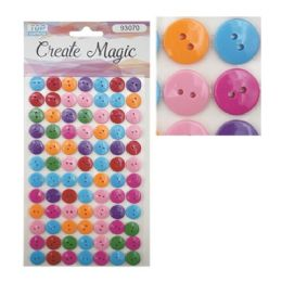 144 Units of Craft Magic Sticker Buttons - Stickers