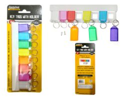 96 Units of 8pc Key Tags With Holder - Key Chains