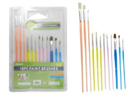 60 Units of 12 Piece Artist Paintbrushes - Paint and Supplies