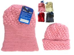 288 Units of Women's Knitted Hat, 85g One Size Fits Most - Winter Beanie Hats