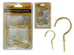 96 Units of 85g Picture Hanging Display Hooks - Drills and Bits