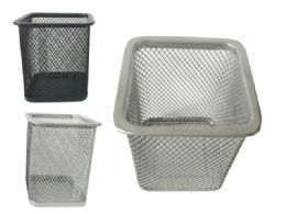 96 Units of Wire Mesh Pen & Stationery Holder - Pencil Boxes & Pouches