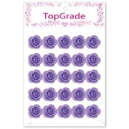 96 Units of Foam Craft Flowers In Purple - Artificial Flowers