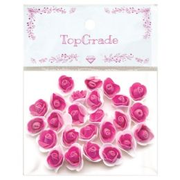 96 Units of Foam Craft Flowers In Hot Pink - Artificial Flowers
