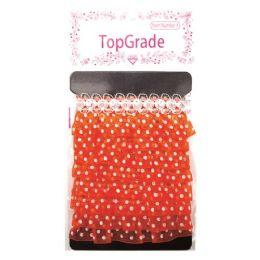 144 Units of Orange Trimming Polka Dot - Bows & Ribbons
