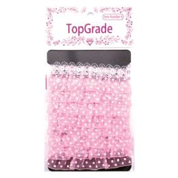 144 Units of Baby Pink Trimming - Bows & Ribbons