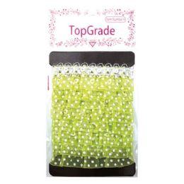 144 Units of Lime Trimming Polka Dot - Bows & Ribbons