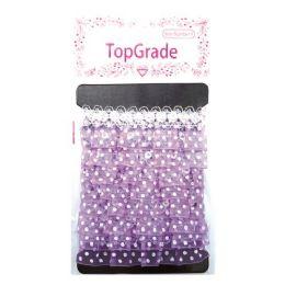 144 Units of Purple Trimming Polka Dot - Bows & Ribbons
