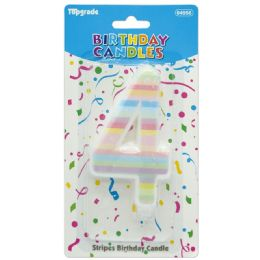 96 Units of Birthday Candle Rainbow Number 4 - Birthday Candles