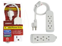 96 Units of ETL UL Std. Power Strip 3 Outlet - Chargers & Adapters