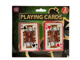 72 Units of Plastic Coated Poker Size Playing Cards Set - Playing Cards, Dice & Poker