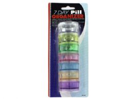 72 Units of 7 Day Pill Organizer - Pill Boxes and Accesories