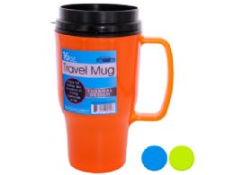 36 Units of 16 Oz. Thermal Travel Mug - Coffee Mugs