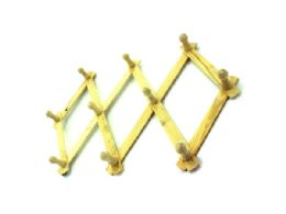 36 Units of Expandable Wood Wall Rack - Hooks