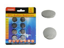 144 Units of 8pc Button Batteries - Batteries