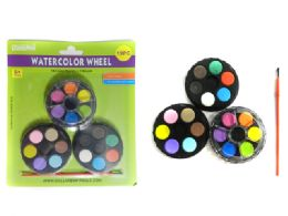 96 Units of Water Color Wheel Set - Paint, Brushes & Finger Paint