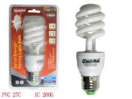 72 Units of 7 Watt Energy Saving Spiral Lightbulb - Lightbulbs