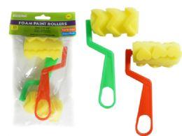 96 Units of 2 Pack Paint Foam Rollers - Paint, Brushes & Finger Paint