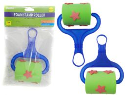 144 Units of Roller Foam Star Stamp - Paint, Brushes & Finger Paint