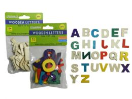 144 Units of 26 Piece Craft Wooden Letters - Craft Wood Sticks and Dowels