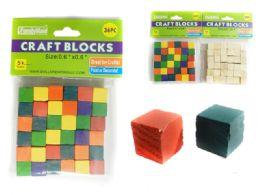 96 Units of 36 Pc Craft Blocks - Craft Wood Sticks and Dowels