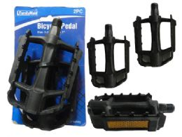 72 Units of 2 Piece Bicycle Pedals With Reflectors - Biking