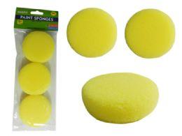 96 Units of 3 Piece Paint Sponges - Paint, Brushes & Finger Paint