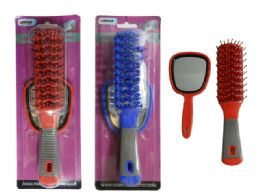144 Units of 2 Piece Hair Brush+mirror - Hair Brushes & Combs