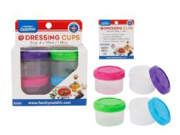 96 Units of 4 Piece Round Storage Containers - Paint and Supplies